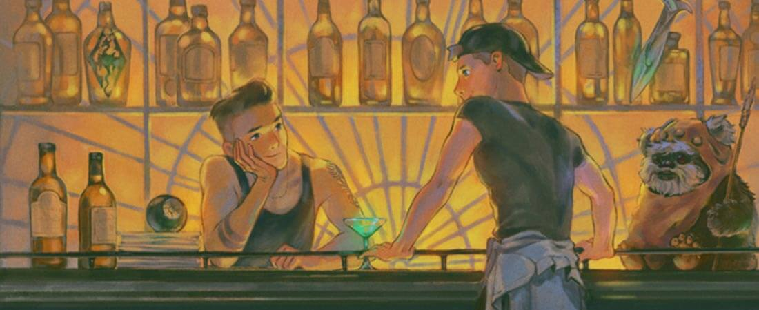 Bar Scene First Impressions Wedding Art Colour
